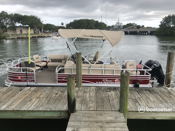 Rent a Sun Tracker by Tracker Marine pontoon in New Smyrna Beach, FL near me