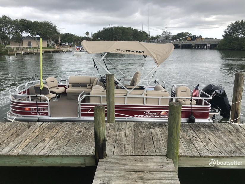 Rent a Sun Tracker By Tracker Marine pontoon in New Smyrna Beach, FL near me