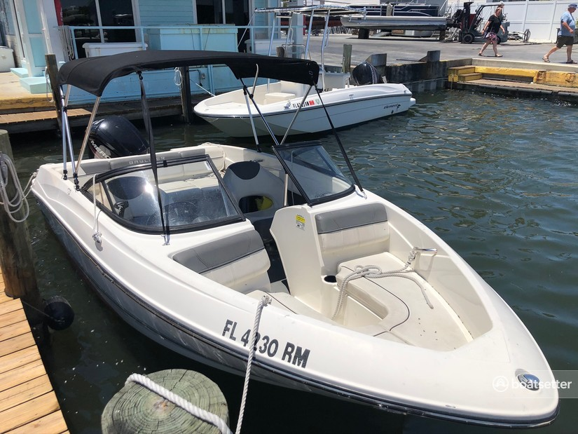 Rent a Bayliner Boats bow rider in Sarasota, FL near me