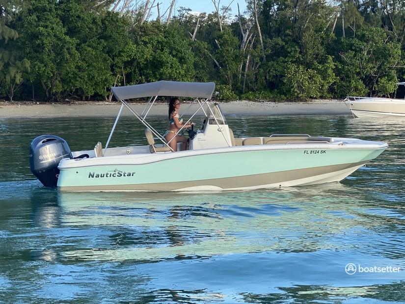 Rent a Nauticstar jet boat in Key Biscayne, FL near me
