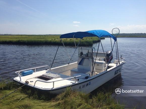 Rent a Carolina Skiff flats boat in Barnegat Township, NJ near me