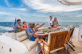 75 ft. 75' Lazzara Cruiser Boat Rental Miami Image 8