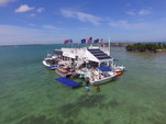 20 ft. Sun Tracker by Tracker Marine Party Barge 18 DLX Signature w/60ELPT 4-S Pontoon Boat Rental The Keys Image 15