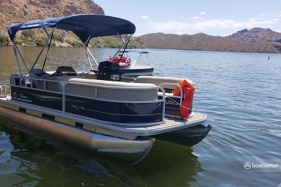 Rent a Sun Tracker by Tracker Marine pontoon in Mesa, AZ near me