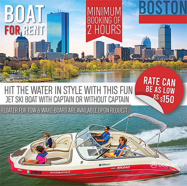 Rent a Yamaha jet boat in Boston, MA near me