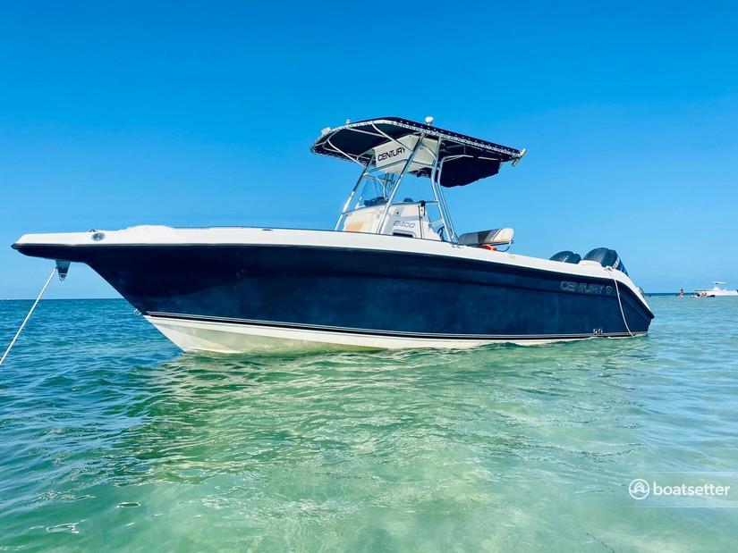Rent a Century Boats center console in Miami, FL near me