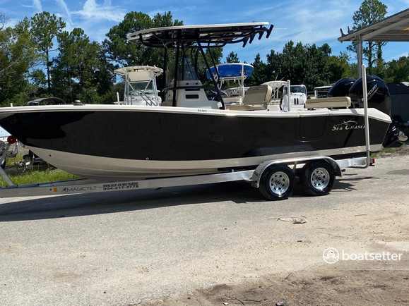Rent a Sea Chaser by Carolina Skiff center console in Jacksonville, FL near me