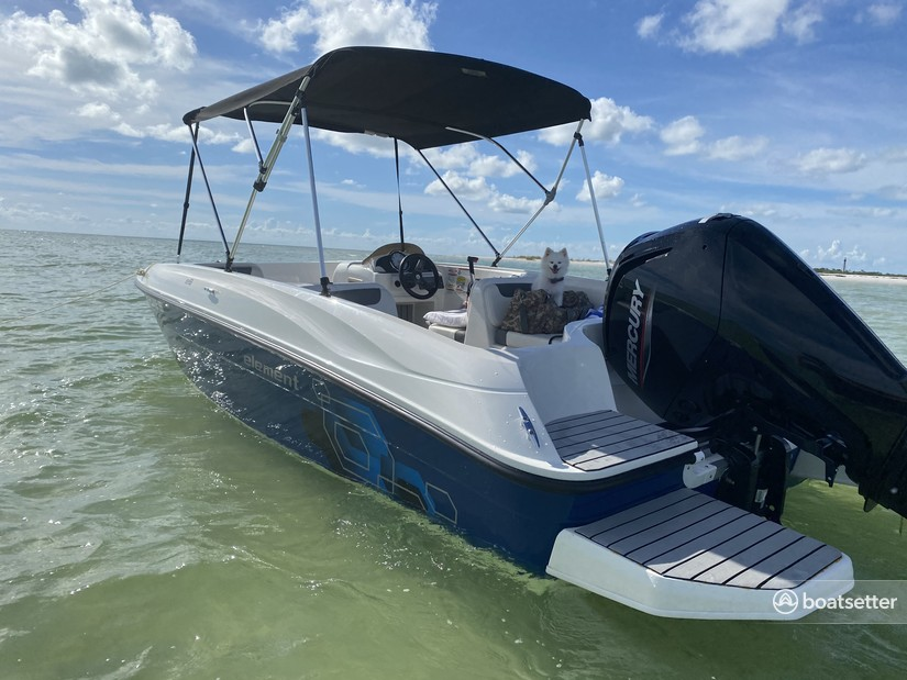 Rent a Bayliner deck boat in Clearwater, FL near me
