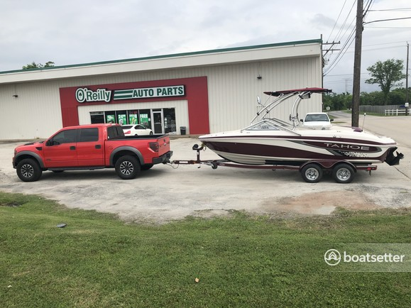 Rent a Tahoe by Tracker Marine runabout in Seabrook, TX near me