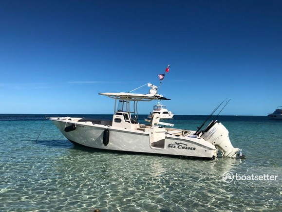 Rent a SEA CHASER BY CAROLINA SKIFF center console in Miami, FL near me