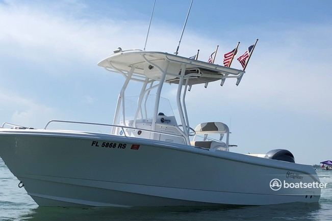 Rent a EDGEWATER POWERBOATS center console in Naples, FL near me