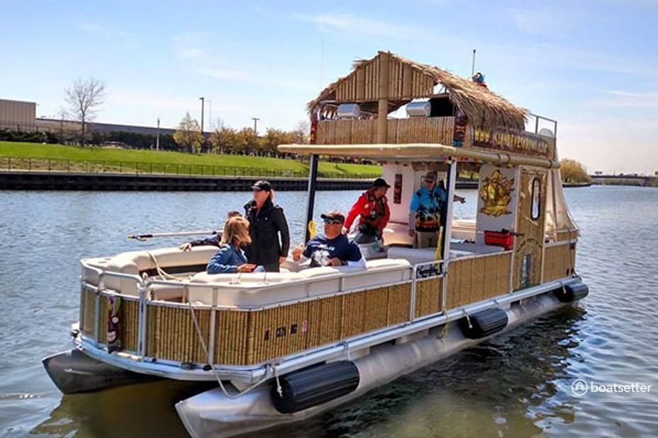 Rent a Sun Tracker by Tracker Marine pontoon in Chicago, IL near me