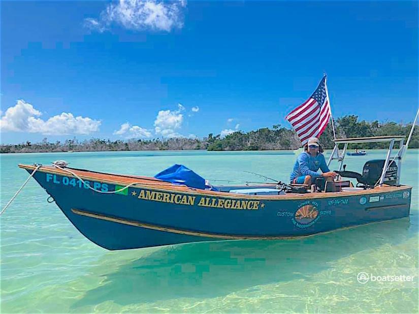 Rent a big pine clipper flats boat in Big Pine Key, FL near me