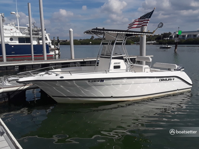 Rent a Century Boats center console in Palm Harbor, FL near me