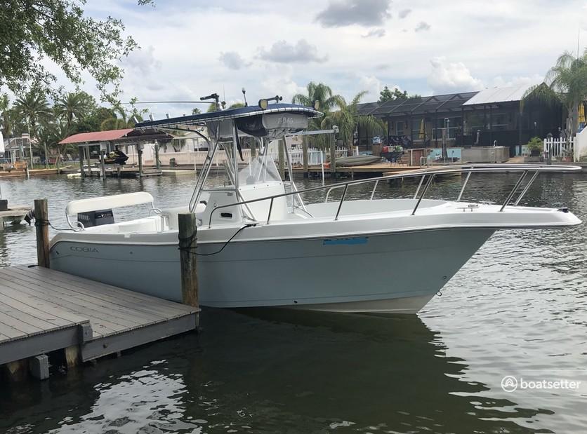 Rent a Cobia Boats center console in Tampa, FL near me
