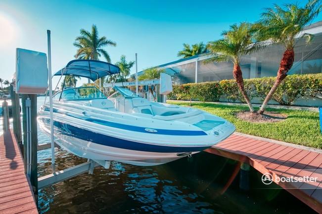 Rent a Crownline deck boat in Cape Coral, FL near me