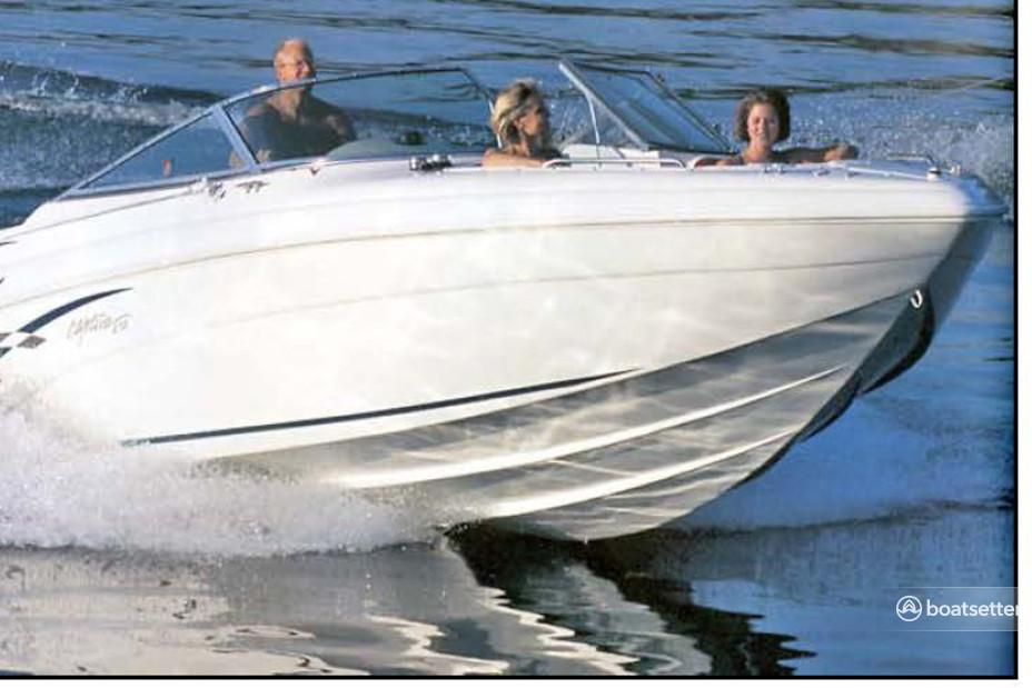 Rent a Rinker Boats deck boat in Lake Ozark, MO near me