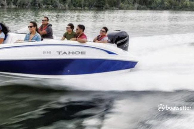 Rent a TAHOE BY TRACKER MARINE deck boat in Charlotte, NC near me