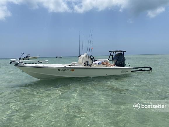 Rent a Hewes flats boat in Key Largo, FL near me
