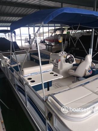 Rent a Odyssey Pontoons deck boat in Austin, TX near me