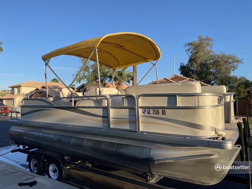 Rent a Parti Kraft pontoon in Peoria, AZ near me