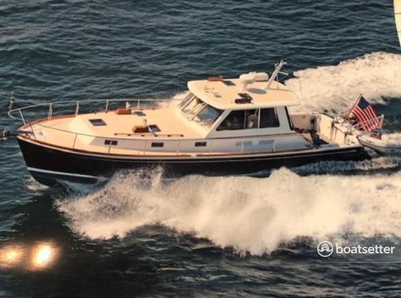 Rent a Grand Banks trawler in Newport, RI near me
