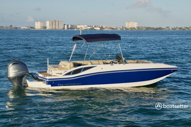 Rent a STARCRAFT MARINE deck boat in St. Petersburg, FL near me