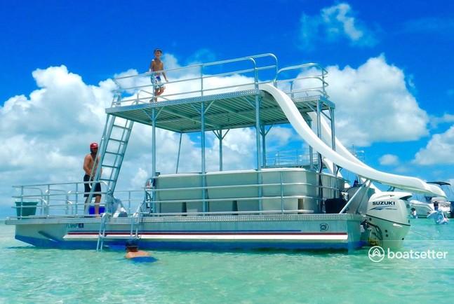 Rent a Double Decker W /  Slide pontoon in Rockwall, TX near me