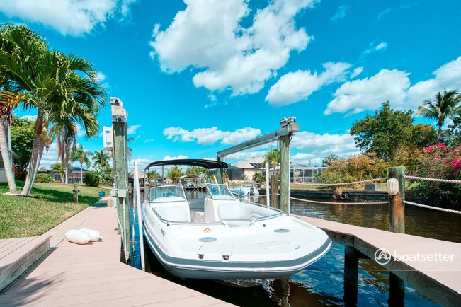 Rent a Hurricane Boats deck boat in Cape Coral, FL near me