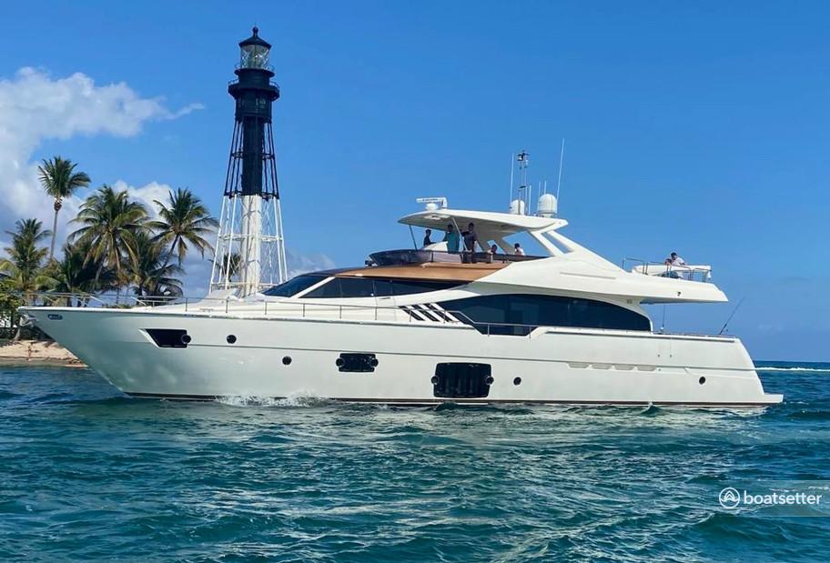 Rent a Ferretti mega yacht in Fort Lauderdale, FL near me