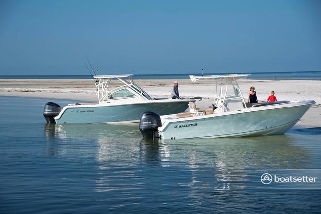 Rent a Sailfish Boats by Seminole center console in Sarasota, FL near me