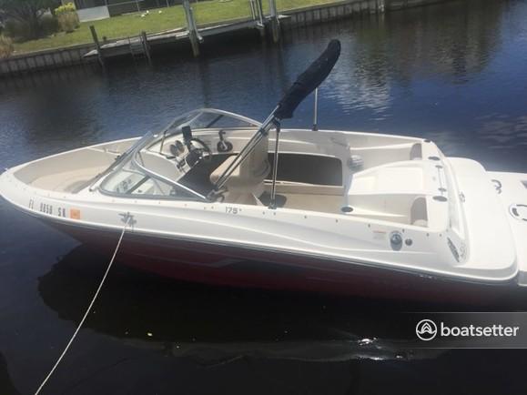 Rent a Bayliner deck boat in Port Charlotte, FL near me