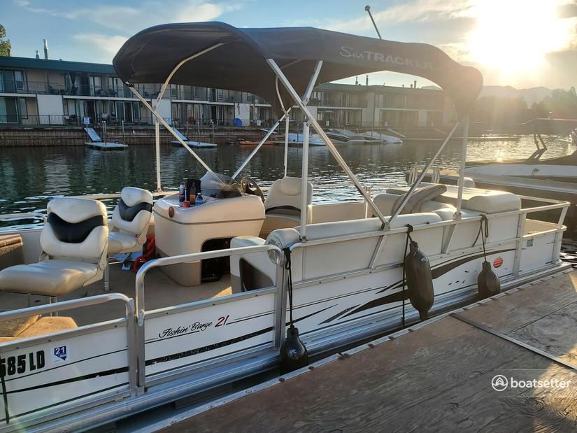 Rent a Sun Tracker by Tracker Marine pontoon in South Lake Tahoe, CA near me