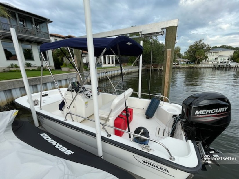Rent a Boston Whaler center console in Tampa, FL near me