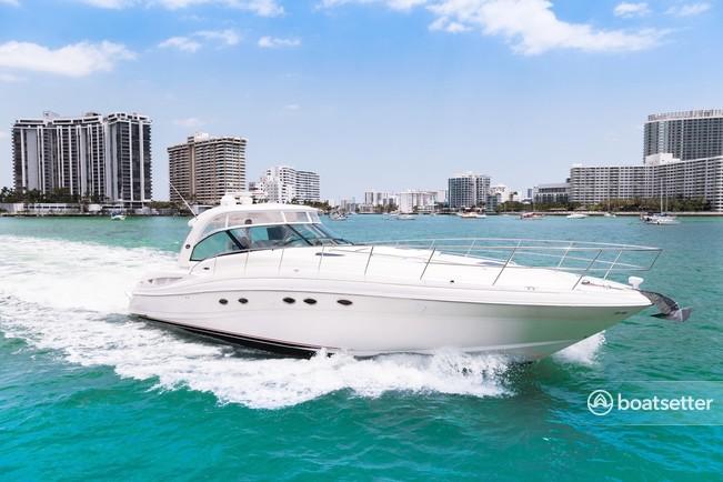 Rent a Sea Ray Boats express cruiser in Miami Beach, FL near me