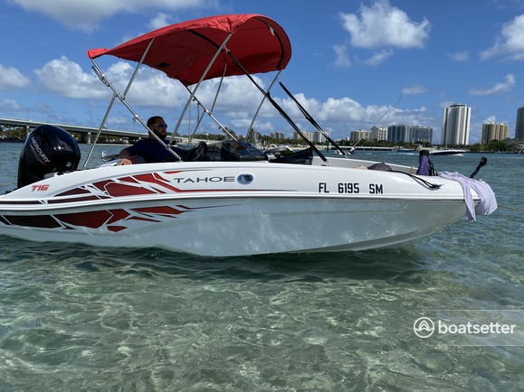 Rent a TAHOE BY TRACKER MARINE bow rider in Delray Beach, FL near me