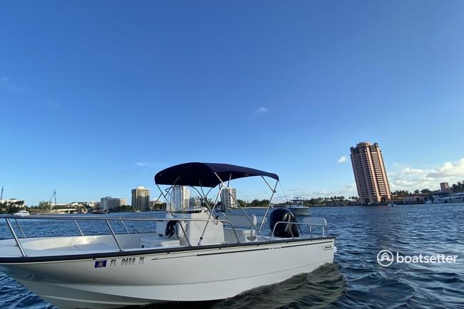 Rent a Boston Whaler center console in Pompano Beach, FL near me