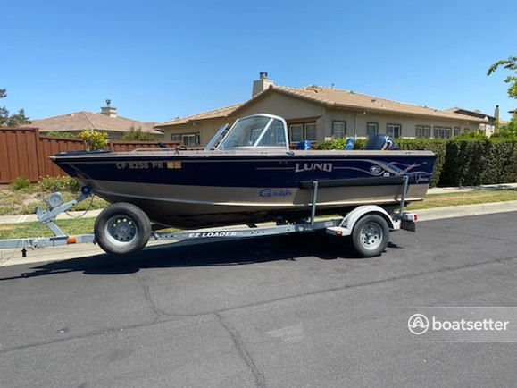 Rent a Lund Boats aluminum fishing in Fairfield, CA near me