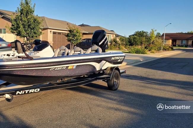 Rent a Nitro by Tracker Marine bass boat in Redding, CA near me