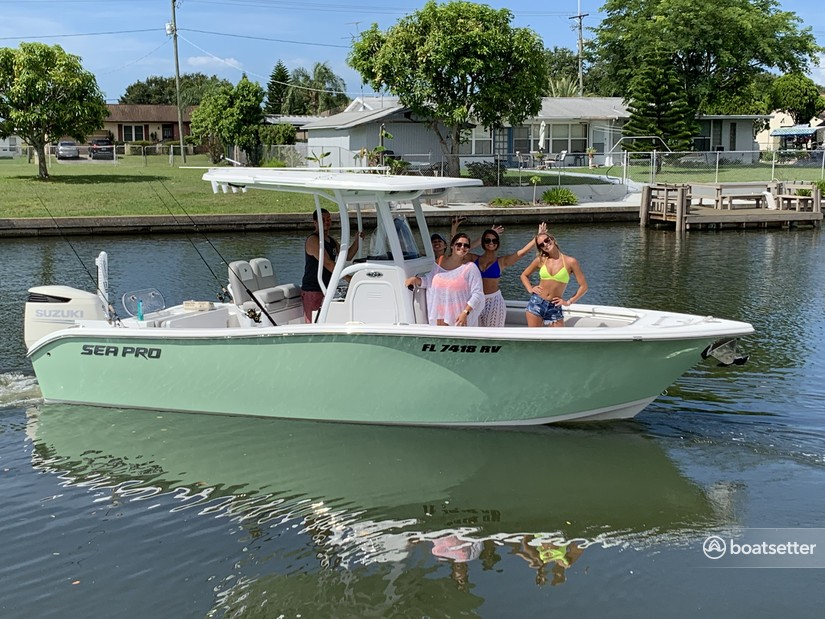 Rent a Seapro center console in Brandon, FL near me