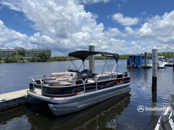 Rent a Sun Tracker by Tracker Marine pontoon in Naples, FL near me