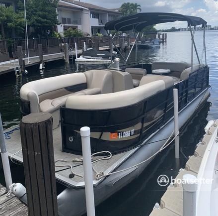 Rent a Encore Bentley pontoon in North Miami Beach, FL near me