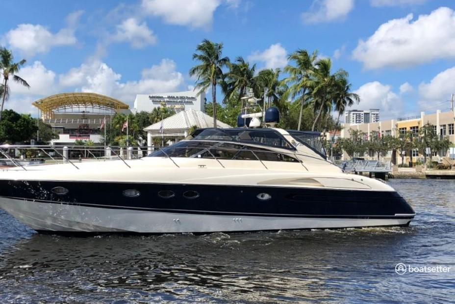 Rent a Viking Princess motor yacht in Sunny Isles Beach, FL near me