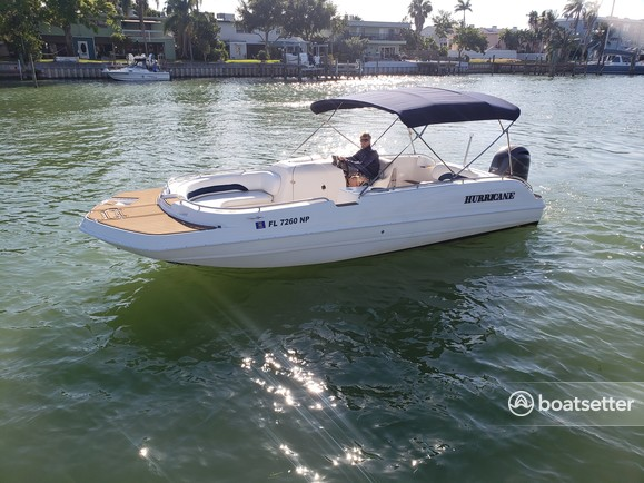 Rent a Hurricane Boats deck boat in Madeira Beach, FL near me