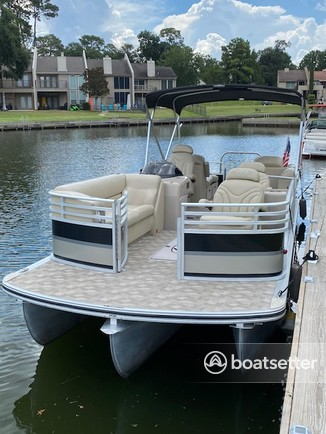 Rent a Harris FloteBote pontoon in Willis, TX near me