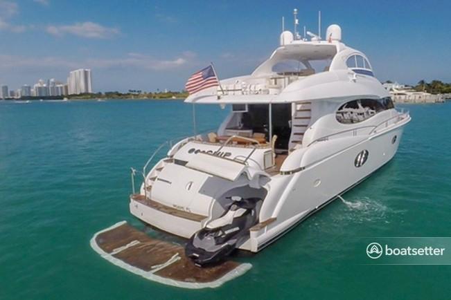 Rent a Lazzara motor yacht in Aventura, FL near me