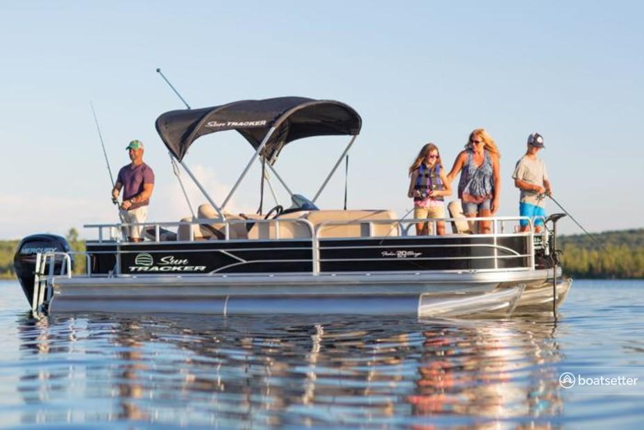 Rent a Sun Tracker by Tracker Marine pontoon in League City, TX near me
