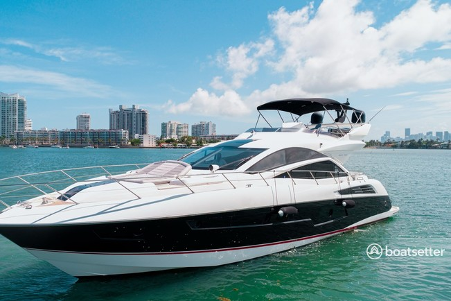 Rent a Sunseeker motor yacht in Miami Beach, FL near me