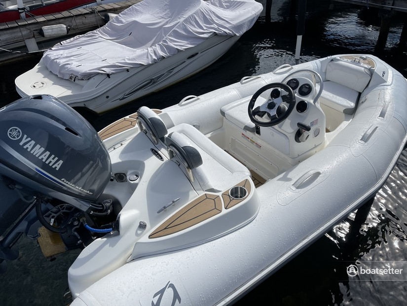 Rent a Zodiac  inflatable outboard in Bellevue, WA near me
