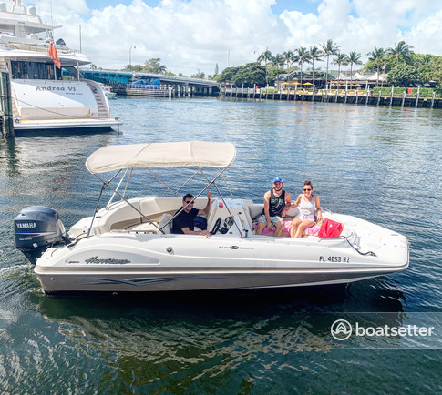 Rent a Hurricane Boats deck boat in Pompano Beach, FL near me